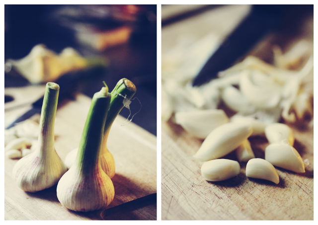 Spring wet garlic