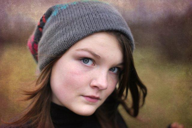 Texture Tuesday teen portrait